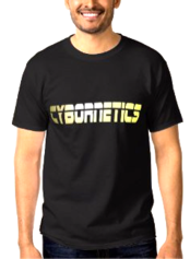 CYBORNETICS GOLD FONT Basic T Shirt by 360 Sound And Vision